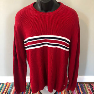90s Tommy Hilfiger Sweater Stripe All Over USA XL